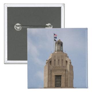 The Louisiana State Capitol Pinback Button