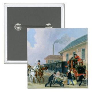 The Louth-London Royal Mail Travelling by Train fr 2 Inch Square Button