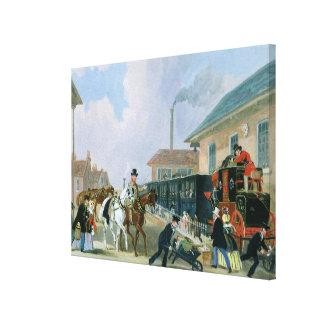 The Louth-London Royal Mail Travelling by Train fr Canvas Print