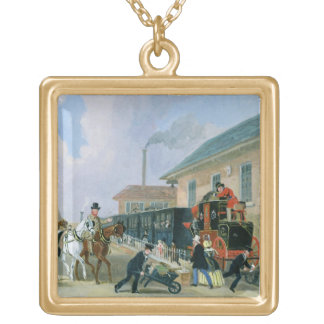 The Louth-London Royal Mail Travelling by Train fr Gold Plated Necklace