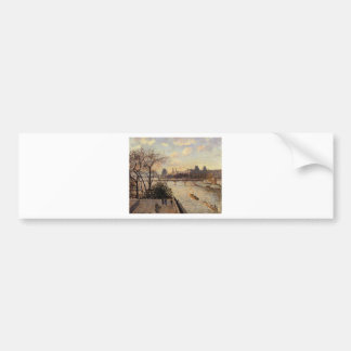 The Louvre and the Seine from the Pont Neuf Bumper Sticker