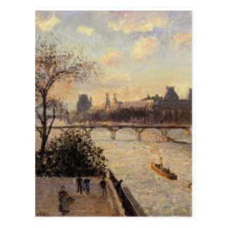The Louvre and the Seine from the Pont Neuf Postcard