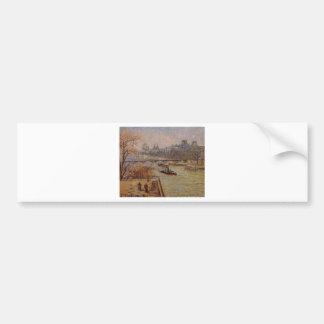The Louvre by Camille Pissarro Bumper Sticker