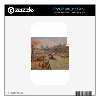 The Louvre by Camille Pissarro Skin For iPod Touch 4G