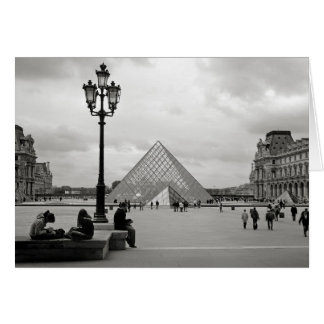 The Louvre Glass Pyramid Card