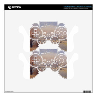 The Louvre, March Mist by Camille Pissarro Skins For PS3 Controllers