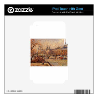 The Louvre, Morning by Camille Pissarro iPod Touch 4G Skins
