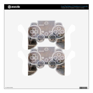 The Louvre, Morning, Snow Effect Camille Pissarro PS3 Controller Skins