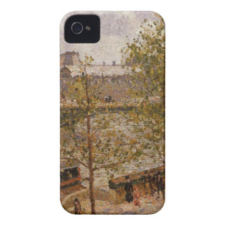 The Louvre, Morning, Sun, Quai Malaquais by Camill iPhone 4 Case-Mate Case