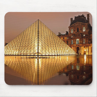 The Louvre Museum at Night Paris France Mousepad