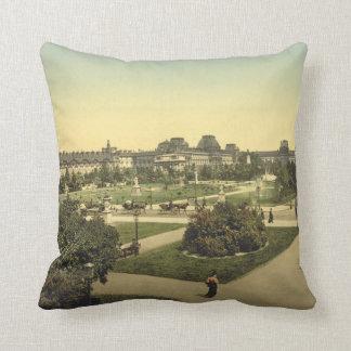 The Louvre, Paris, France Throw Pillow