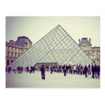 The louvre postcard