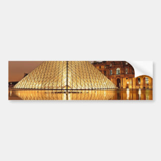 The Louvre Pyramid in the courtyard of the Louvre Bumper Sticker