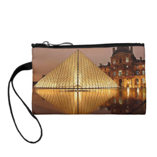 The Louvre Pyramid in the courtyard of the Louvre Coin Wallet