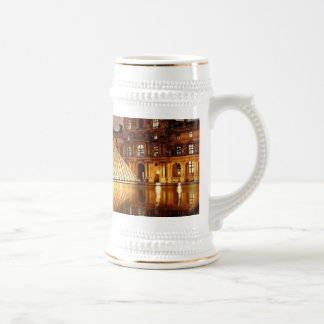 The Louvre Pyramid in the courtyard of the Louvre 18 Oz Beer Stein
