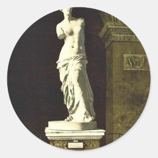 The Louvre, the Venus de Milo, Paris, France class Classic Round Sticker