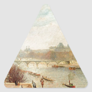 The Louvre, Winter Sunlight, Morning, 2nd Version Triangle Sticker