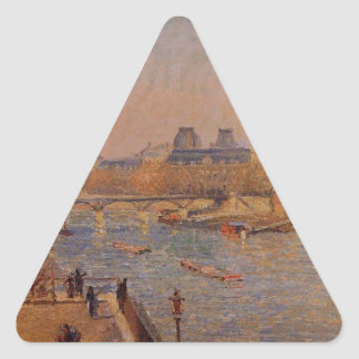 The Louvre, Winter Sunshine, Morning by Camille Triangle Sticker