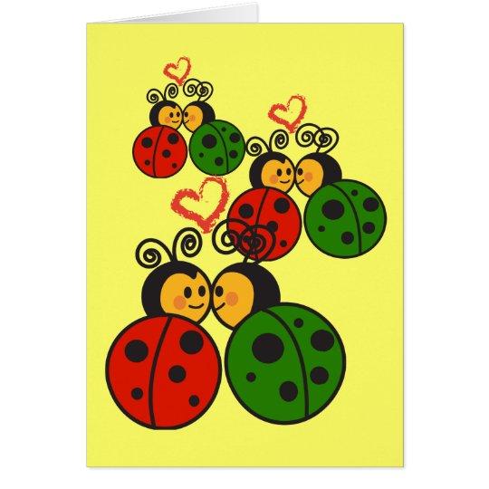 The love bugs card