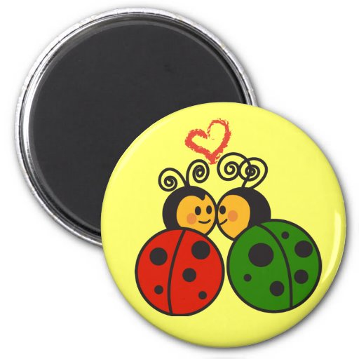 The love bugs refrigerator magnet