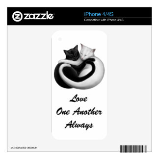 The Love Cats Zazzle Skin Skin For iPhone 4S