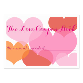 The Love Coupons Book Large Business Cards (Pack Of 100)