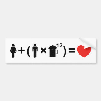 The Love Equation for Men Bumper Sticker