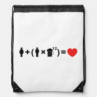 The Love Equation for Men Drawstring Bag