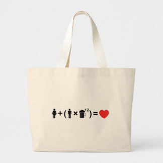 The Love Equation for Men Large Tote Bag