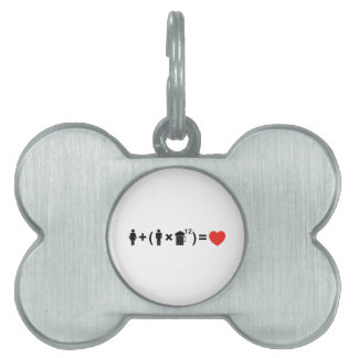 The Love Equation for Men Pet ID Tag