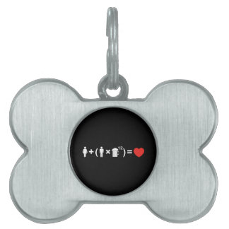 The Love Equation for Men Pet Name Tag