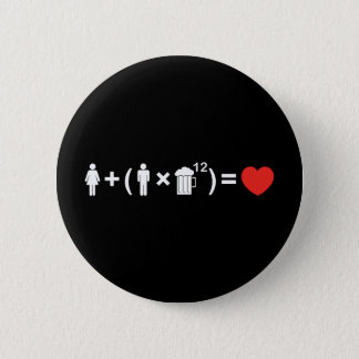 The Love Equation for Men Pinback Button