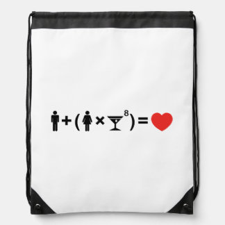 The Love Equation for Women Drawstring Bag