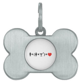 The Love Equation for Women Pet Name Tag