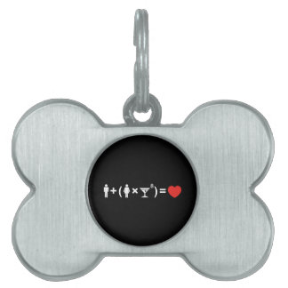 The Love Equation for Women Pet Tag