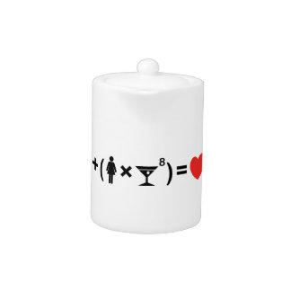 The Love Equation for Women Teapot