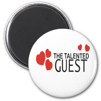 THE LOVE GUEST 2 INCH ROUND MAGNET