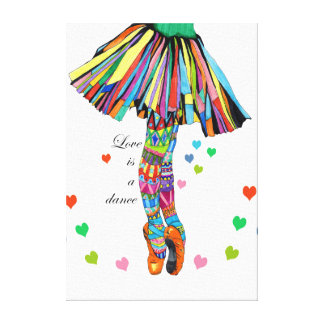 The love is a Dance Canvas Print
