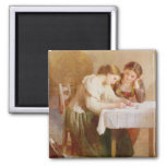 The Love Letter, 1871 2 Inch Square Magnet