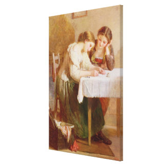 The Love Letter, 1871 Canvas Print