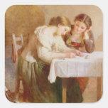 The Love Letter, 1871 Square Sticker