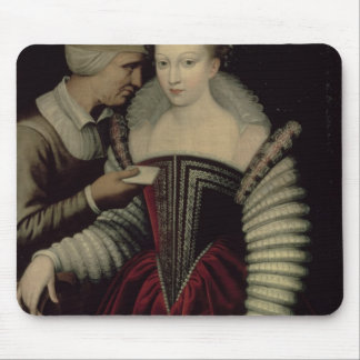 The Love Letter, a Lady with her Maid Mouse Pad