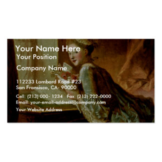 The Love Letter,  By Fragonard, Jean-Honoré (Best Double-Sided Standard Business Cards (Pack Of 100)
