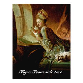 "The Love Letter,  By Fragonard, Jean-Honoré (Best 8.5"" X 11"" Flyer"