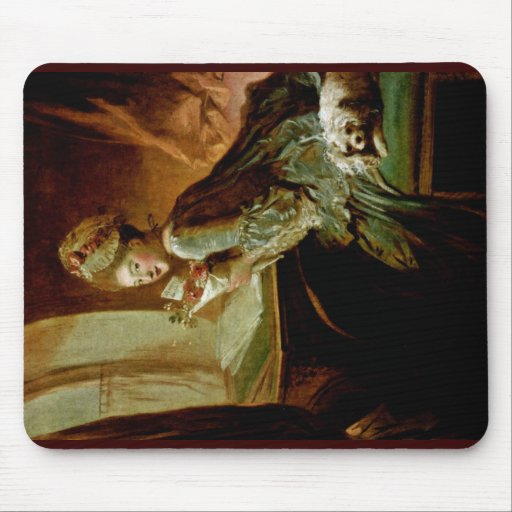 The Love Letter,  By Fragonard, Jean-Honoré (Best Mouse Pad
