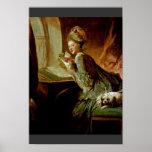 The Love Letter,  By Fragonard, Jean-Honoré (Best Print