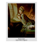The Love Letter By Jean-Honore Fragonard Posters