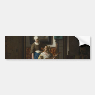 The Love Letter by Johannes Vermeer Car Bumper Sticker