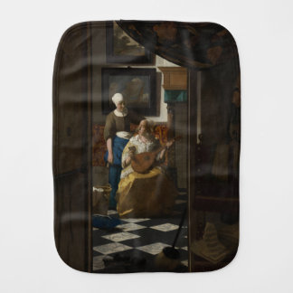 The Love Letter by Johannes Vermeer Burp Cloth