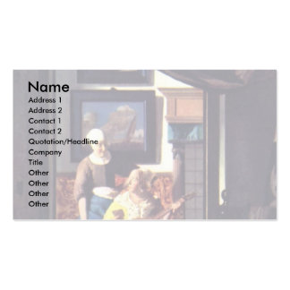 The Love Letter,  By Johannes Vermeer Business Card Template